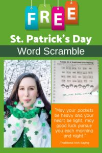 st. patricks word scramble