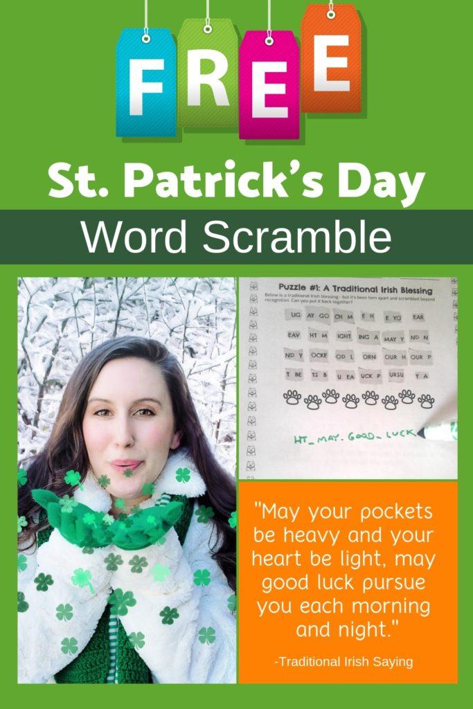 st. patricks word scramble