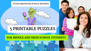 5 Printable Puzzles for 2018 that are Perfect for Middle School Students (and High School, too!)