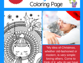 December Coloring Page for Christmas