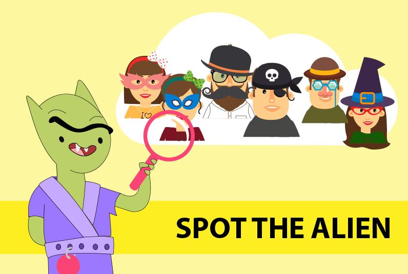 puzzle game - spot the alien