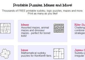 free printable puzzles by the thousands